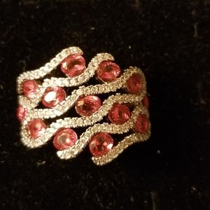Jewelry - Synthetic Ruby and .925 Stirling silver ring